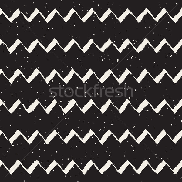 Vector Seamless Hand Drawn ZigZag Lines Grungy Pattern Stock photo © Samolevsky