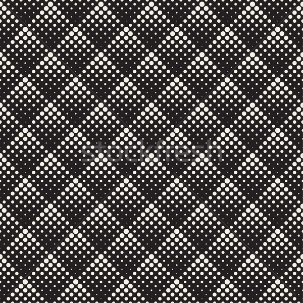 Stylish Minimalistic Halftone Grid. Vector Seamless Black and White Pattern Stock photo © Samolevsky