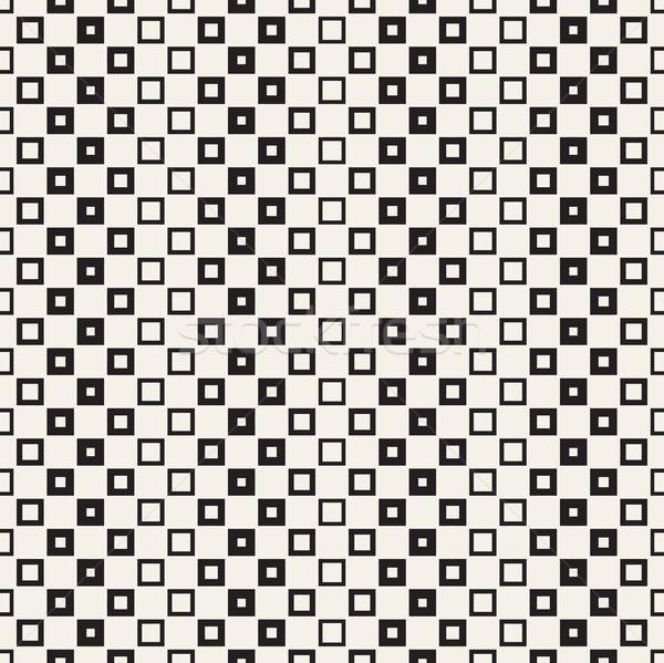 Repeating Geometric Rectangle Tiles. Vector Seamless Pattern.  Stock photo © Samolevsky