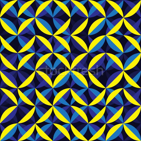 Vector Seamless Irregular Rounded Arc Lines Geometric Pattern Stock photo © Samolevsky