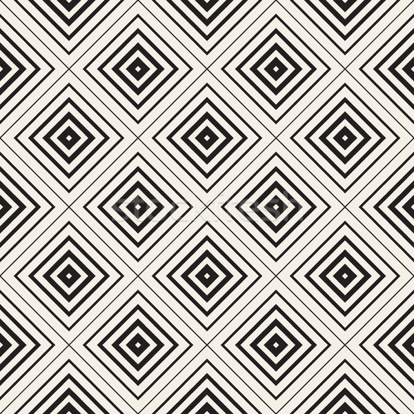 Vector Seamless  Rhombus Tiling  Pattern. Concentric Lines Stock photo © Samolevsky