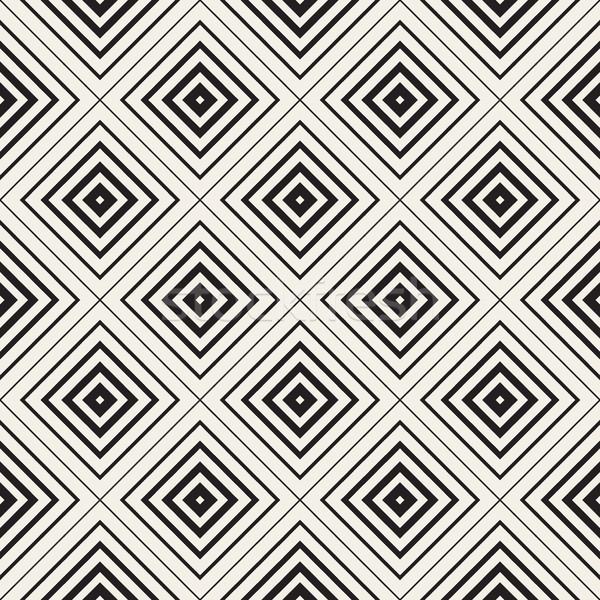 Wektora bezszwowy wzór koncentryczny linie Zdjęcia stock © Samolevsky