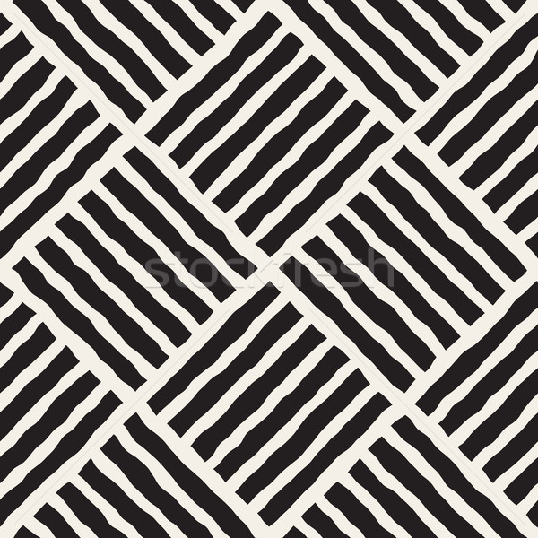 Vector Seamless Diagonal Lines Grid Pattern Stock photo © Samolevsky
