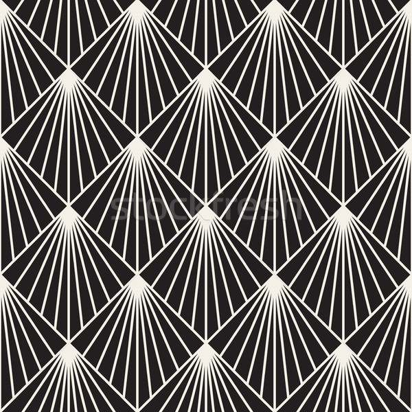 Geometric Burst Lines Rhombus Grid Stock photo © Samolevsky