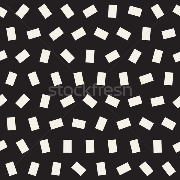 Geometric Scattered Shapes. Vector Seamless Black and White Pattern Stock photo © Samolevsky