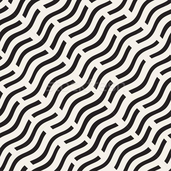 Falisty linie monochromatyczny tekstury wektora Zdjęcia stock © Samolevsky