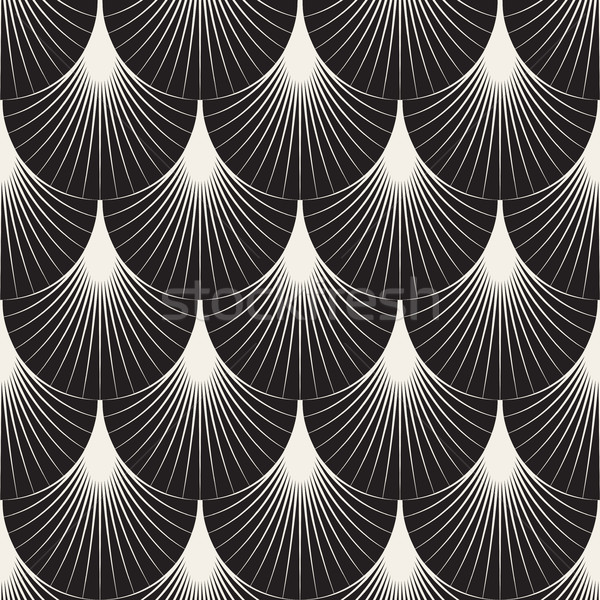Vector Seamless Sunburst Lines Geometric Pattern Stock photo © Samolevsky