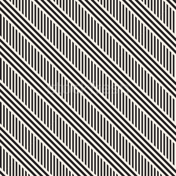 パラレル ベクトル シームレス モノクロ パターン ストックフォト © Samolevsky