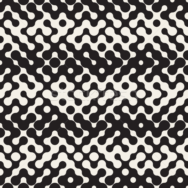Vector sin costura blanco negro medios tonos patrón gradiente Foto stock © Samolevsky