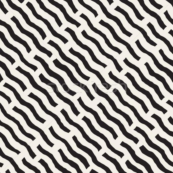 Vettore senza soluzione di continuità ondulato linee disegno geometrico Foto d'archivio © Samolevsky