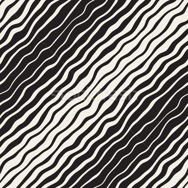 Ondulado ondulação gradiente linhas vetor Foto stock © Samolevsky