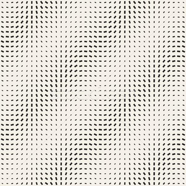 Stylish Minimalistic Halftone Grid. Vector Seamless Black and White Pattern Stock photo © Samolevsky