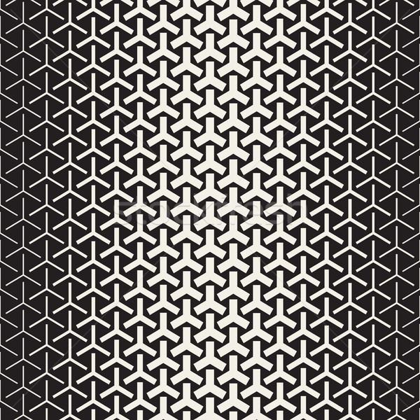 Yarım ton vektör siyah beyaz model Stok fotoğraf © Samolevsky