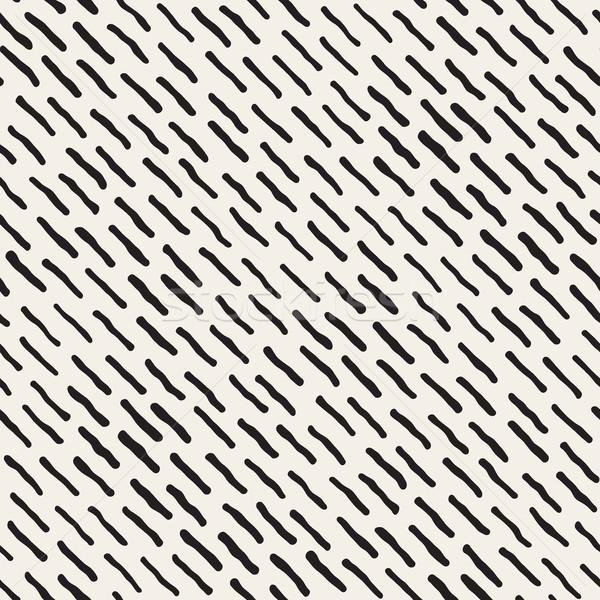 Vector sin costura dibujado a mano diagonal líneas patrón Foto stock © Samolevsky