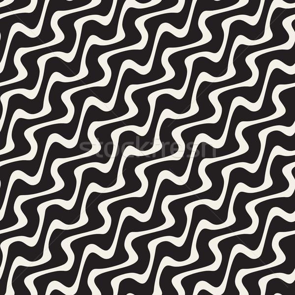 Dalgalı diyagonal hatları vektör Stok fotoğraf © Samolevsky
