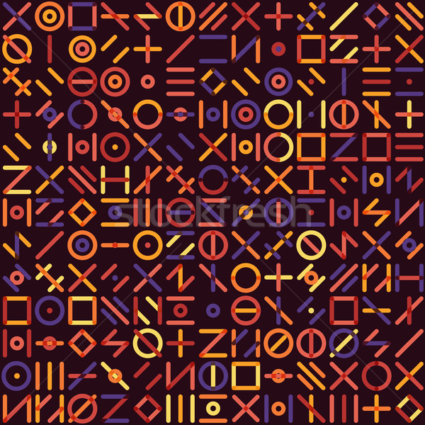 ベクトル シームレス 幾何学的な 行 ランダム ストックフォト © Samolevsky