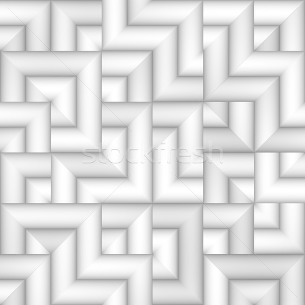 Raster Seamless Greyscale Subtle Gradient Irregular Tiling Geometric Square Pattern Stock photo © Samolevsky