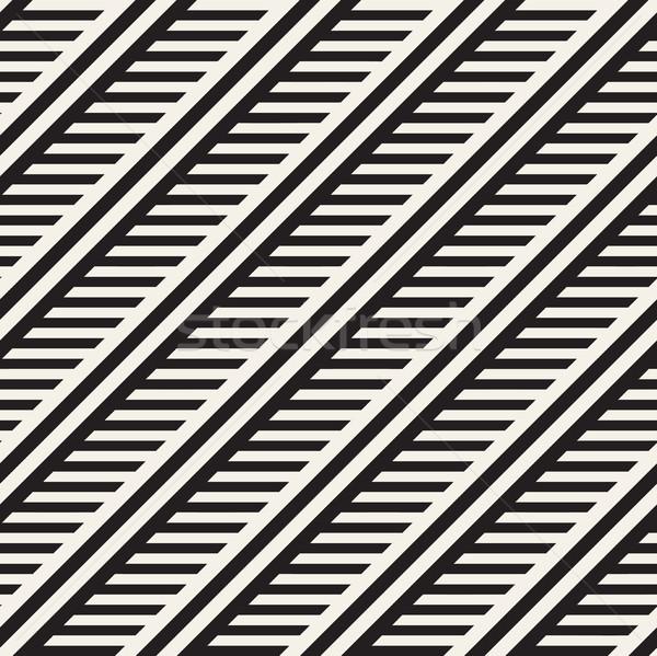 Paralelo vector sin costura monocromo patrón Foto stock © Samolevsky
