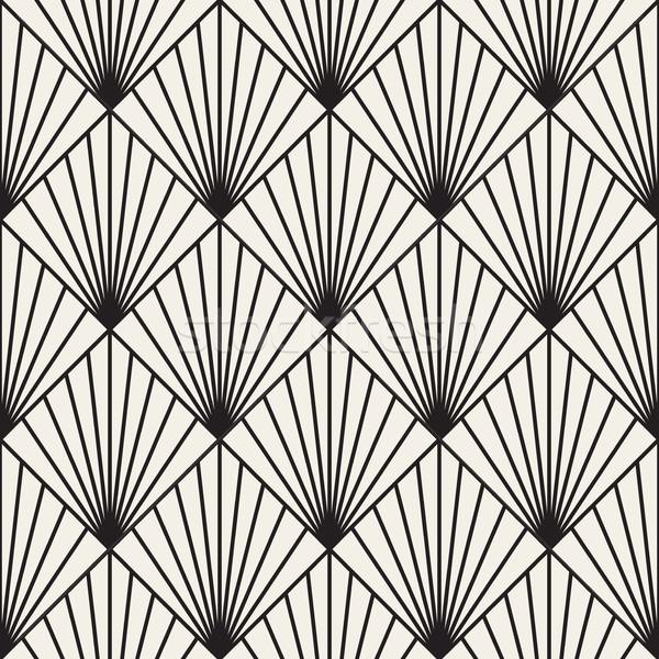 Geometric Burst Lines Rhombus Grid. Abstract Geometric Background Design. Stock photo © Samolevsky