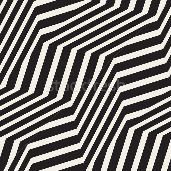 Zig-zag illusione ottica effetto vettore Foto d'archivio © Samolevsky