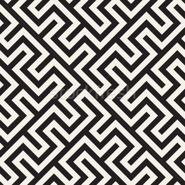 Moda tek renkli hat vektör siyah beyaz Stok fotoğraf © Samolevsky