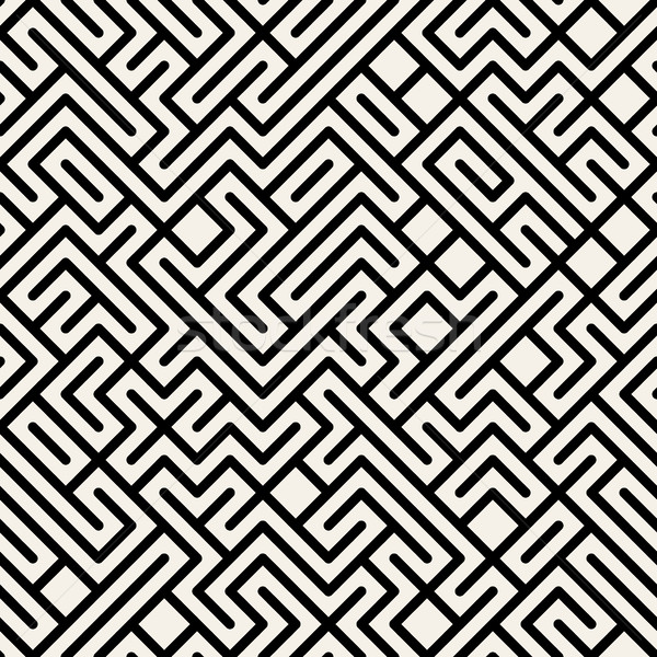 Vettore bianco nero labirinto geometrica texture Foto d'archivio © Samolevsky