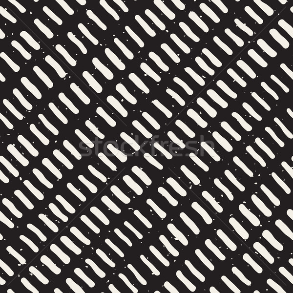 Vector Seamless Hand Drawn Rounded Diagonal Lines Grunge Pattern Stock photo © Samolevsky