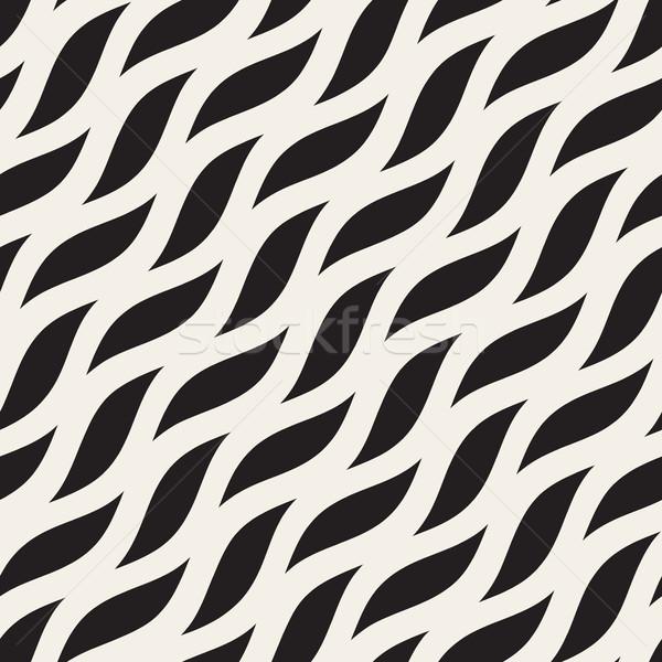 Vector sin costura diagonal ondulado formas patrón Foto stock © Samolevsky
