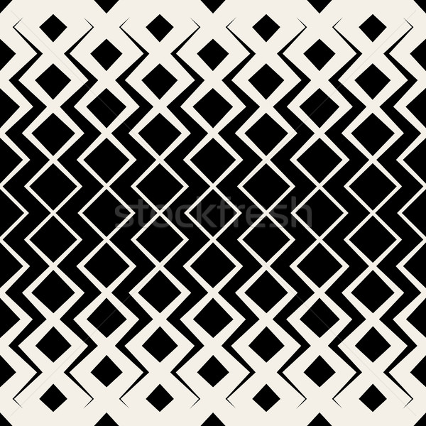 Vettore senza soluzione di continuità griglia mezzitoni pattern bianco nero Foto d'archivio © Samolevsky