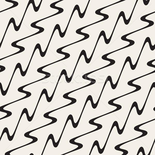 Ondulato diagonale linee vettore senza soluzione di continuità Foto d'archivio © Samolevsky
