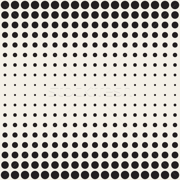 Vektör siyah beyaz circles yatay eğim Stok fotoğraf © Samolevsky