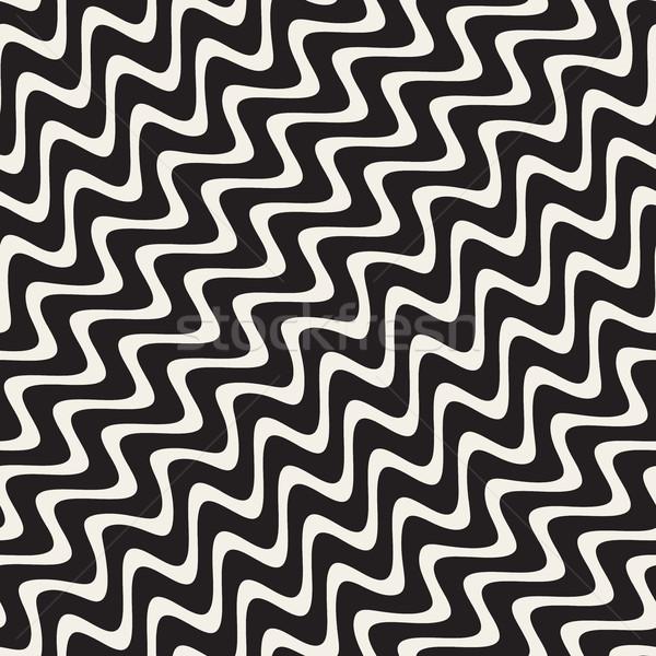 Vettore senza soluzione di continuità diagonale ondulato linee Foto d'archivio © Samolevsky