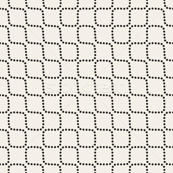 Vecteur blanc noir pointillé lignes modèle Photo stock © Samolevsky