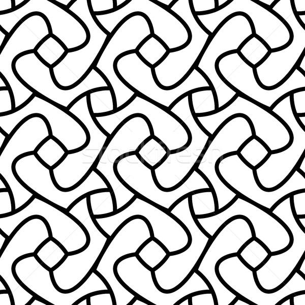 Siyah beyaz vektör geometrik girdap hat Stok fotoğraf © Samolevsky