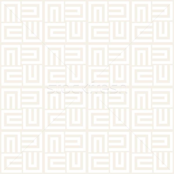 Repeating Geometric Stripes Tiling. Vector Seamless Monochrome Pattern Stock photo © Samolevsky