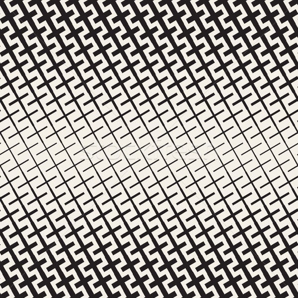 クロス ハーフトーン ベクトル シームレス 黒白 ストックフォト © Samolevsky