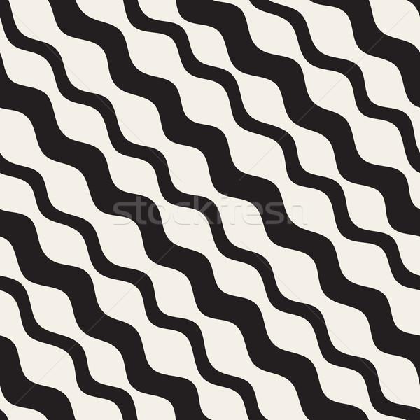 Vektör siyah beyaz diyagonal hatları Stok fotoğraf © Samolevsky