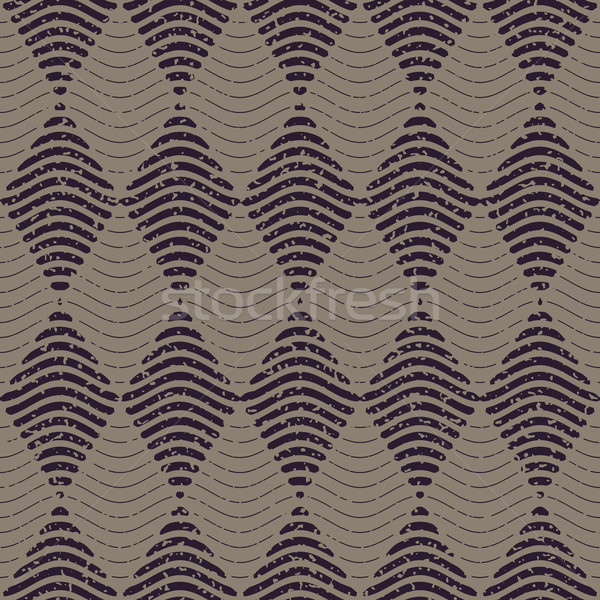 Vector Seamless Navy Grey Color Hand Drawn Wavy Lines Rhombus Checker Retro Pattern Abstract Backgro Stock photo © Samolevsky