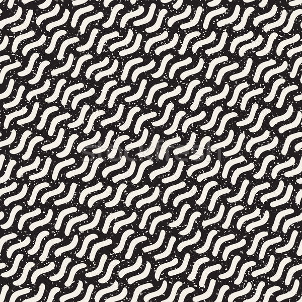Vector Seamless Hand Drawn Daigonal Jumble Strokes Pattern Stock photo © Samolevsky