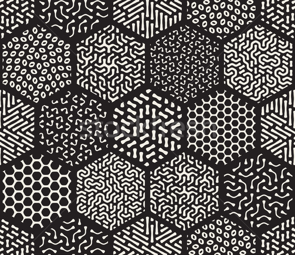 Vector Seamless Hexagonal Jumble Patterns Stock photo © Samolevsky