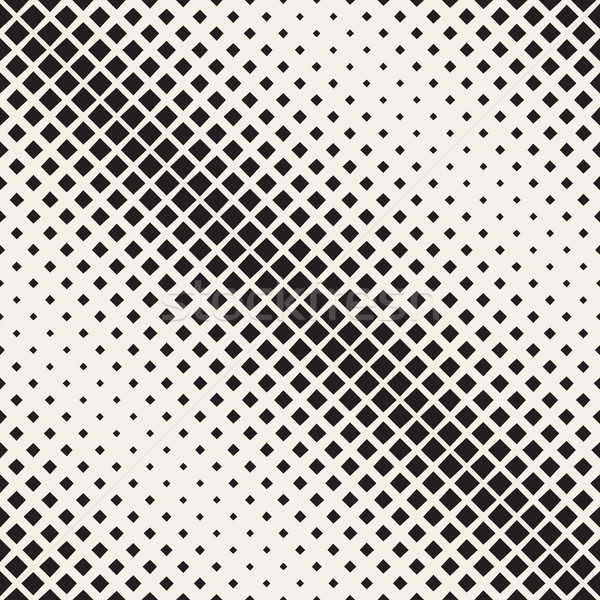 Vettore senza soluzione di continuità bianco nero diagonale mezzitoni piazza Foto d'archivio © Samolevsky