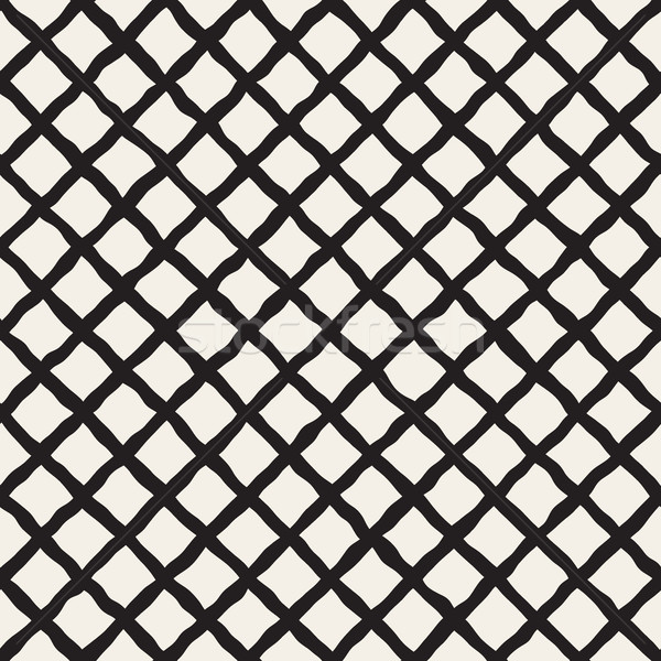 Vector Seamless Diagonal Grid Lines Rhombus Pattern Stock photo © Samolevsky