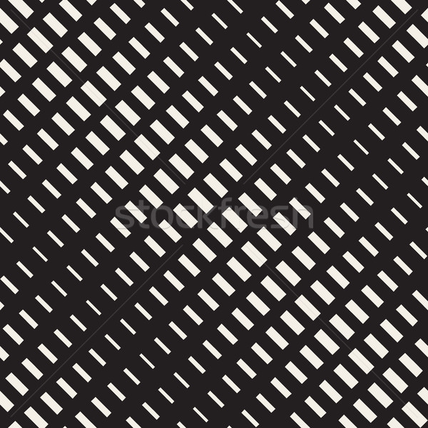 Vector Seamless Rectangle Halftone Diagonal Transition Geometric Pattern Stock photo © Samolevsky