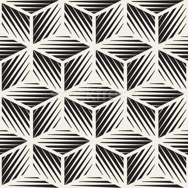 Vektör küp biçim hatları geometrik desen Stok fotoğraf © Samolevsky