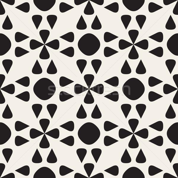 Stok fotoğraf: Vektör · siyah · beyaz · geometrik · desen · soyut · dizayn