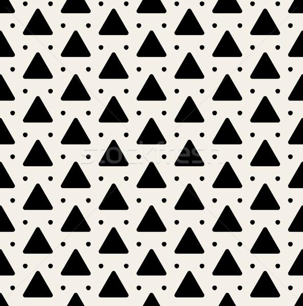 Vektör siyah beyaz üçgen model dizayn Stok fotoğraf © Samolevsky