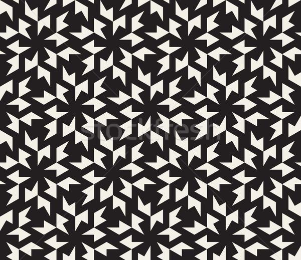 Vektör siyah beyaz geometrik model soyut Stok fotoğraf © Samolevsky