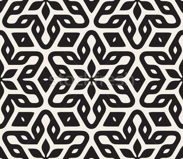 ベクトル シームレス フローラル 星 オリエンタル パターン ストックフォト © Samolevsky