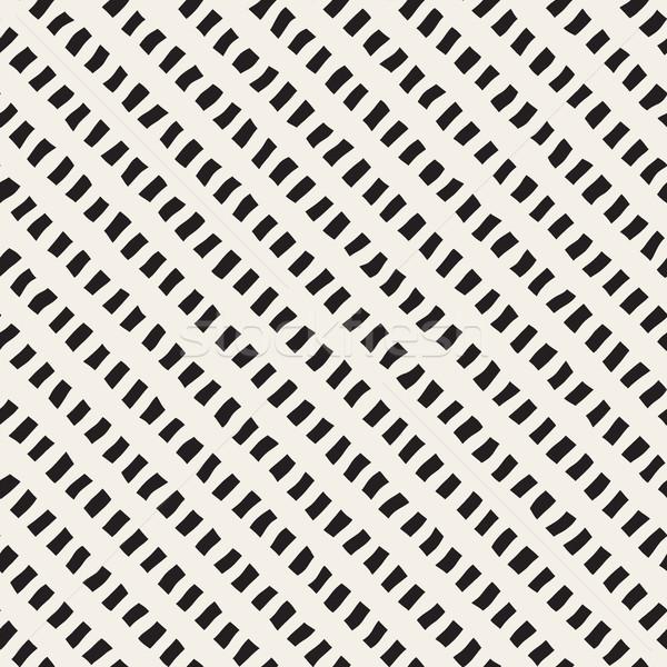 Vektor végtelenített kézzel rajzolt átló vonalak minta Stock fotó © Samolevsky