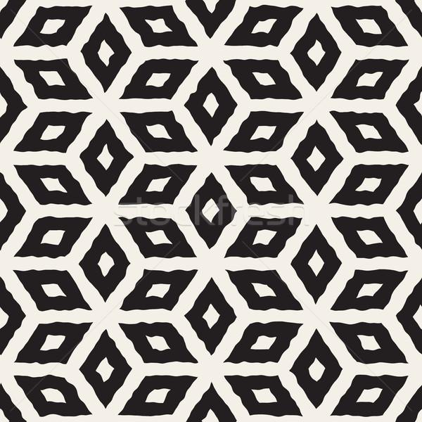 ベクトル シームレス 手 描いた 行 幾何学的な ストックフォト © Samolevsky